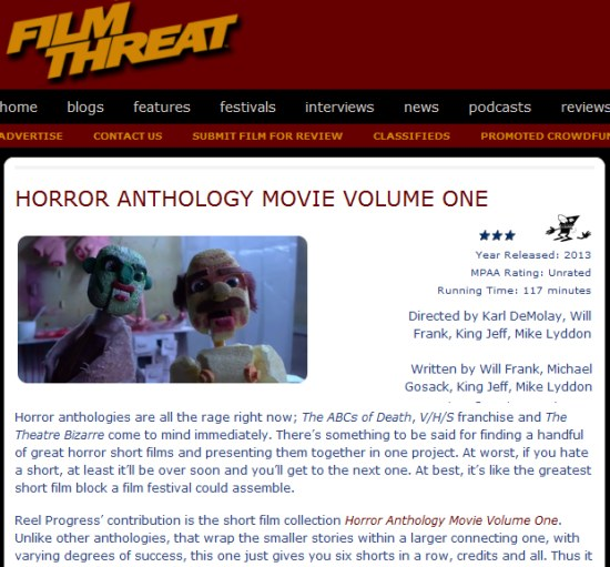 film threat review of horror anthology movie