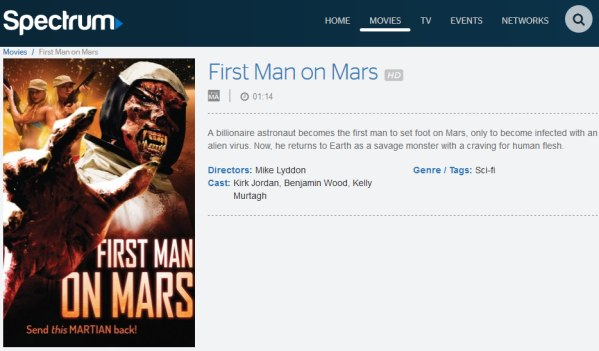first man on mars spectrum