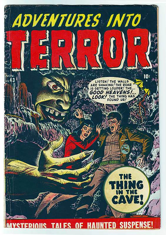 atlas comics golden age pre-code horror adventures into terror