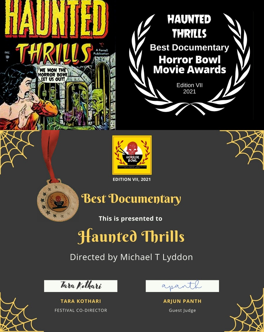 haunted thrills wins best documentary horror bowl movie awards