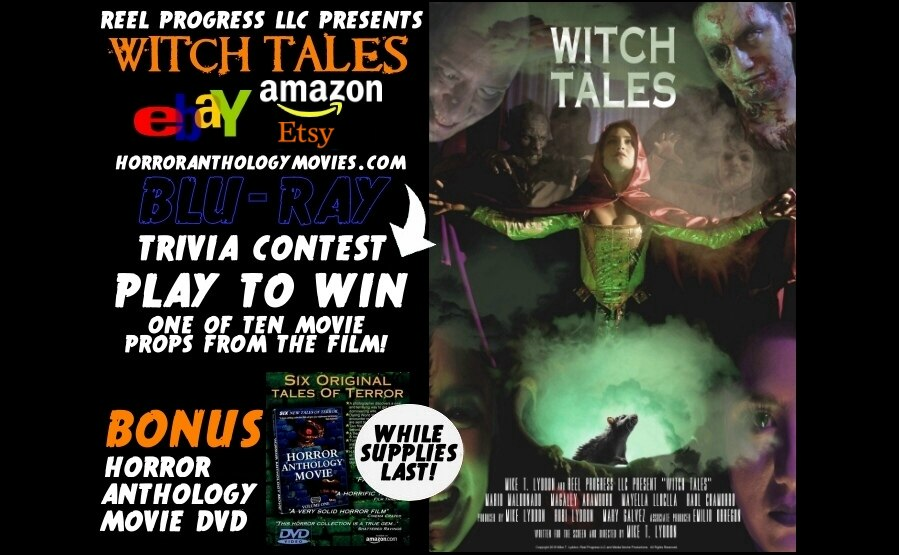 Halloween sale on Witch Tales blu-ray and Horror Anthology Movie DVD